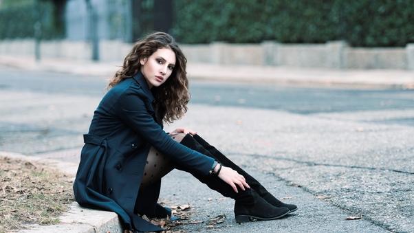 صور بنات الفيس بوك الجديدة Black Boots Girl صور بنات كيوت